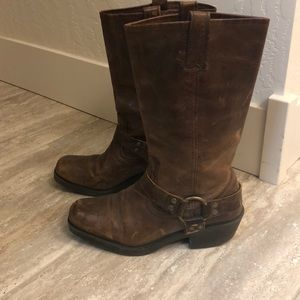 Lookalike Real Leather Frye Harness Boots